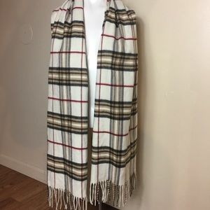 Women's Plaid Scarf By V.Fraas Made in Germany